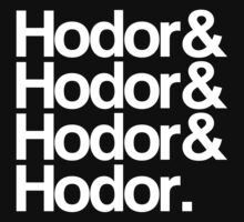 Hodor Helvetica (White) by Digital Phoenix Design