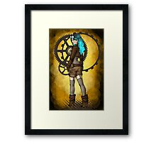Steampunk Girl Pinup Framed Print