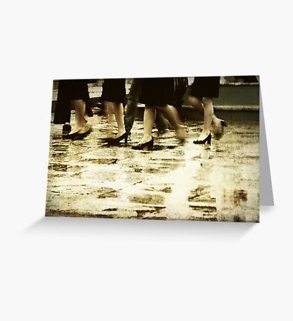 Old Footsteps Greeting Card