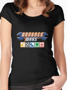 Advance Wars Logo with Factions Women's Fitted Scoop T-Shirt