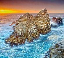 Pacific Ocean Oregon Coast HDR by Fred Seghetti
