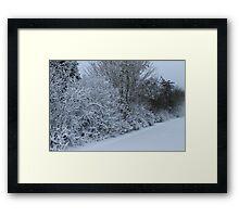 All in white Framed Print