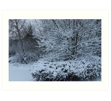 beautiful snow scene Art Print