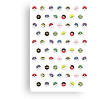 Cute Pokeball Pattern Canvas Print