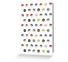 Cute Pokeball Pattern Greeting Card
