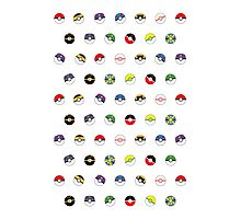 Cute Pokeball Pattern Photographic Print