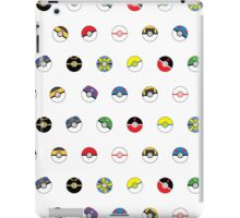 Cute Pokeball Pattern iPad Case/Skin