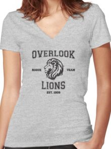 The Overlook Lions  Women's Fitted V-Neck T-Shirt