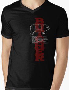 Butcher Pig Mens V-Neck T-Shirt