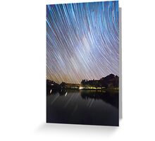 Milky Way Startrails Greeting Card