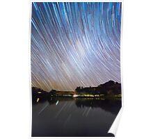 Milky Way Startrails Poster