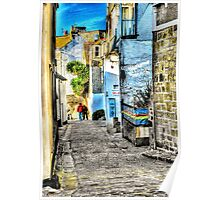 A back street in St. Ives Poster