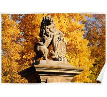 The autumn lion in Wernigerode Poster