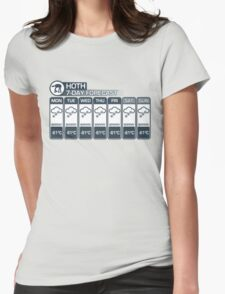 Hoth - 7 Day Forecast Womens Fitted T-Shirt