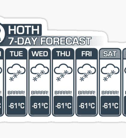 Hoth - 7 Day Forecast Sticker