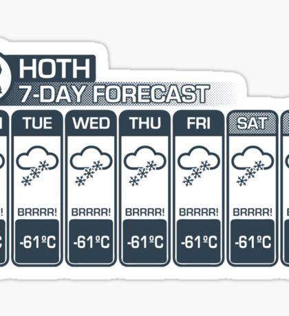 Hoth - 7 Day Forecast Sticker