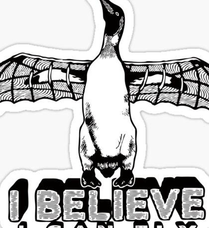 I Believe I Can Fly Sticker