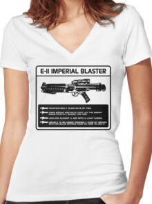 E-11 Imperial Blaster Women's Fitted V-Neck T-Shirt