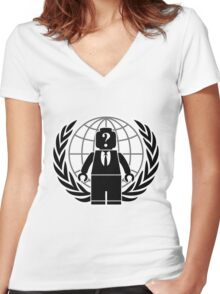 Legonymous Women's Fitted V-Neck T-Shirt