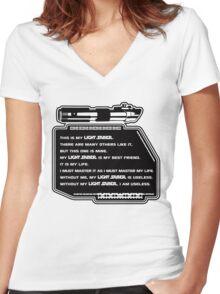 Lightsaber Women's Fitted V-Neck T-Shirt
