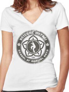 Keisuke Miyagi School of Martial Arts Women's Fitted V-Neck T-Shirt