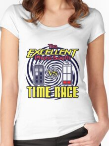 The Excellent Phone Booth Time Race Women's Fitted Scoop T-Shirt