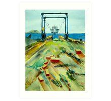 Hoist at Rhodes Point Railway Art Print