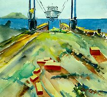 Hoist at Rhodes Point Railway by Phyllis Dixon