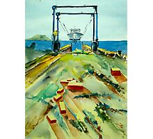 Hoist at Rhodes Point Railway Photographic Print