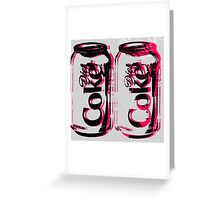 Diet Coke Can Greeting Card