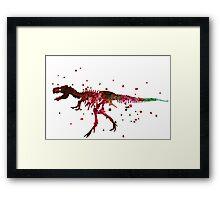 T Rex Skellington Framed Print