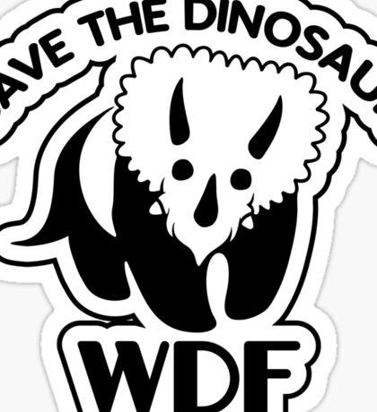 Save The Dinosaur Sticker