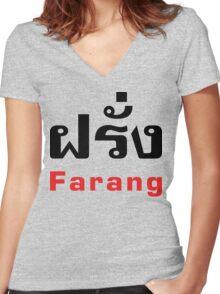 Farang Women's Fitted V-Neck T-Shirt