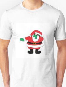 Santa Claus Dab- Black T-Shirt
