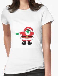 Santa Claus Dab- Black Womens Fitted T-Shirt