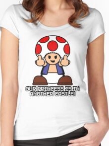Our Princess Is In Another Castle Women's Fitted Scoop T-Shirt