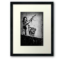 Gun Around the Corner Framed Print