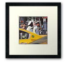 New York, two street policemen Framed Print