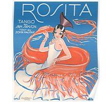 ROSITA (vintage illustration) Poster