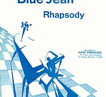 Blue Jean Rhapsody (vintage illustration) by ART INSPIRED BY MUSIC