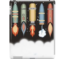Colorful outer space rockets flaming jet pack clouds iPad Case/Skin
