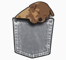 Sleeping puppy dog in a pocket Kids Clothes