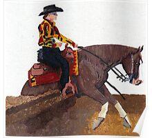 Quarter Horse Reining Horse Poster