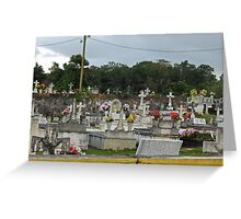 Cemetery in Esperanza Puerto Rico Greeting Card