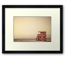 Beach Lifeguard Hut Framed Print