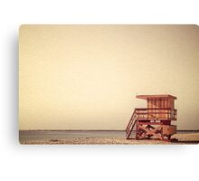 Beach Lifeguard Hut Canvas Print