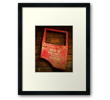 Reds Advertising Framed Print