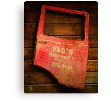 Reds Advertising Canvas Print