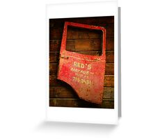 Reds Advertising Greeting Card