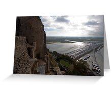 Mont Saint Michel Estuary France Greeting Card